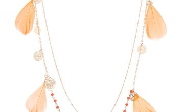 Go to Product: Gold Filigree Feather Multi Strand Necklace - Coral