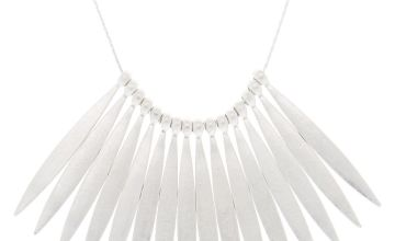 Go to Product: Silver Nail Stick Statement Necklace