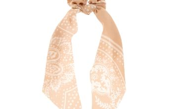 Go to Product: Paisley Satin Scarf Hair Scrunchie - Nude