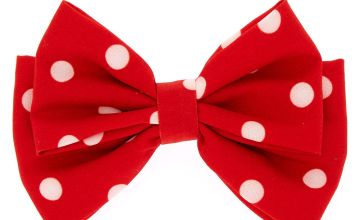Go to Product: Polka Dot Floppy Bow Hair Clip - Red