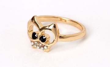 Go to Product: Gold Iridescent Stone Owl Ring