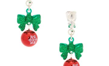 "Go to Product: 1"" Holiday Bells Clip On Drop Earrings"