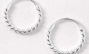 Go to Product: Sterling Silver 12MM Rope Hoop Earrings