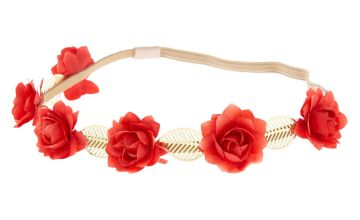 Go to Product: Rose Flower Crown Headwrap - Red