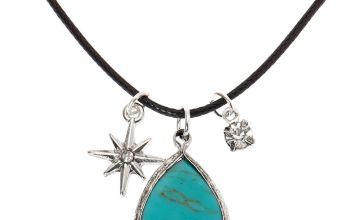 Go to Product: Stone Teardrop Pendant Necklace - Turquoise