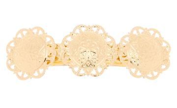 Go to Product: Gold Floral Medallion Hair Barrette