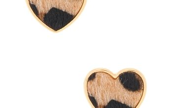 Go to Product: Gold Leopard Heart Stud Earrings