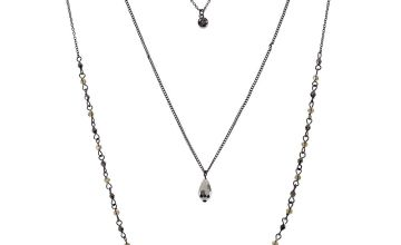 Go to Product: Hematite Filigree Multi Strand Necklace