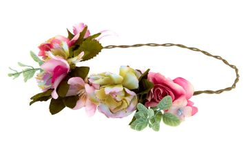 Go to Product: Vintage Succulent Flower Crown Headwrap - Pink