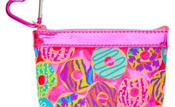 Go to Product: Neon Animal Donut Print Zip Coin Purse - Pink