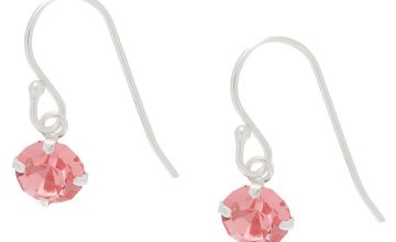 Go to Product: Sterling Silver Stone Drop Earrings - Pink