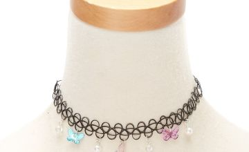 Go to Product: Butterfly Charm Tattoo Choker Necklace