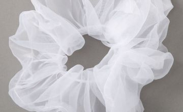Go to Product: Giant Organza Hair Scrunchie - White