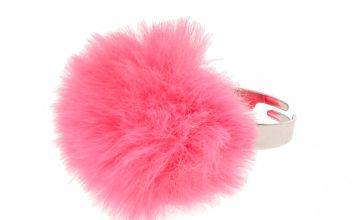 Go to Product: Bright Pink Pom Pom Ring