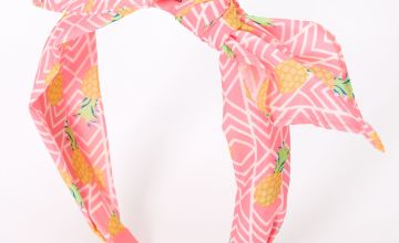 Go to Product: Neon Pineapple Knotted Bow Headband - Pink