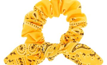 Go to Product: Small Bandana Knotted Bow Hair Scrunchie - Yellow