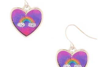 "Go to Product: 1"" Miss Glitter the Unicorn Holographic Drop Earrings - Pink"