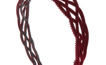 Go to Product: Filigree Velvet Headband - Burgundy