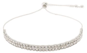Go to Product: Silver Rhinestone Layered Adjustable Bracelet