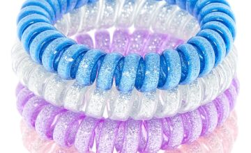Go to Product: Galaxy Glitter Spiral Hair Bobbles - 4 Pack