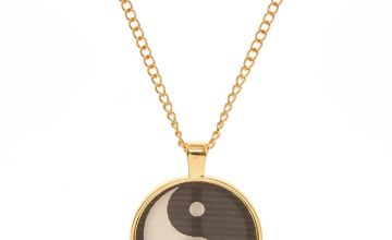Go to Product: Gold Tone Holographic Peace Pendant Necklace