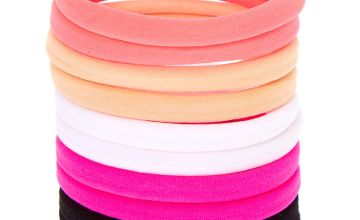 Go to Product: Solid Neon Neutral Rolled Hair Bobbles - 10 Pack