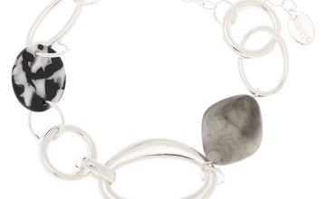 Go to Product: Silver Resin Stone Chain Bracelet