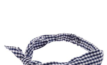 Go to Product: Gingham Knotted Bow Headwrap - Navy