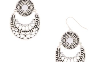 Go to Product: Silver Medallion and Stone Drop Earrings