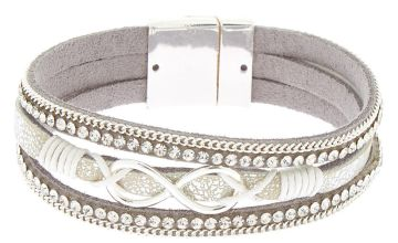 Go to Product: Embellished Infinity Wrap Bracelet - Silver