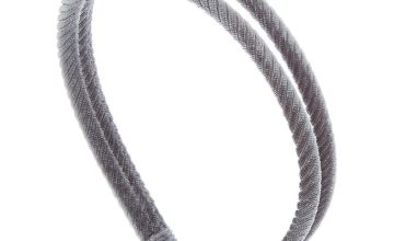 Go to Product: Double Row Ribbed Velvet Headband - Grey