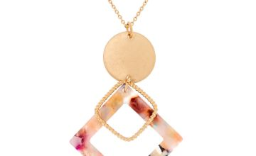 Go to Product: Gold Resin Painted Diamond Long Pendant Necklace