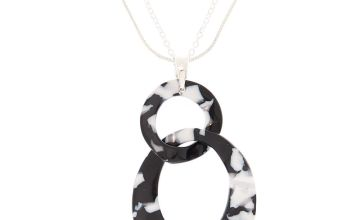 Go to Product: Black & White Resin Link Long Necklace