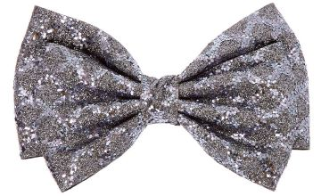 Go to Product: Christmas Glitter Hair Bow Clip - Grey