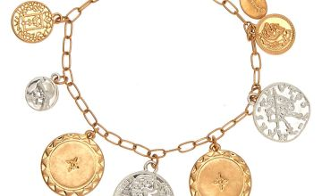 Go to Product: Mixed Metal Coin Charm Bracelet