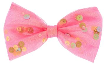 Go to Product: Shaker Sequin Hair Bow Clip - Pink