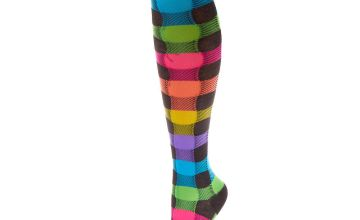Go to Product: Neon Rainbow Chequered Knee High Socks