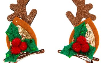 Go to Product: Reindeer Ear Hair Clips - Brown, 2 Pack