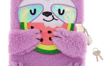 Go to Product: Sophie The Sloth Lock Soft Notebook - Purple
