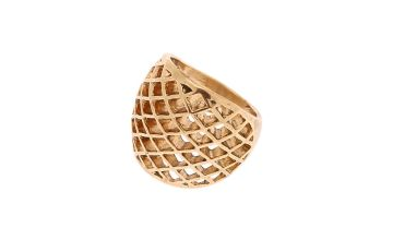 Go to Product: Gold Honeycomb Ring