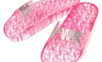Go to Product: Jelly GRL PWR Pool Slide Sandals - Pink