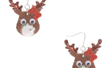 Go to Product: Novelty Reindeer Drop Earrings- Brown