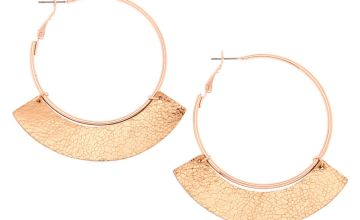 Go to Product: Rose Gold 50MM Metallic Hoop Earrings