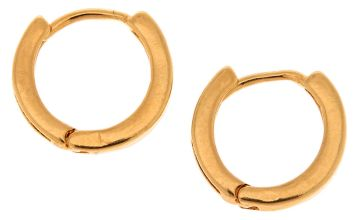 Go to Product: 18kt Gold Plated 12MM Hoop Earrings