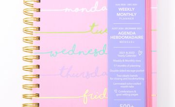 Go to Product: 2020/2021 Days Of The Week Daily Planner - Pink