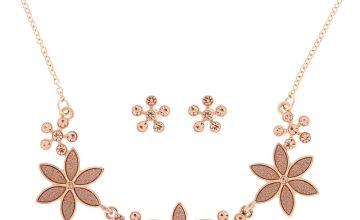 Go to Product: Rose Gold Glitter Flower Jewellery Set