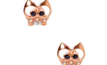 Go to Product: 18kt Rose Gold Plated Gizmo Owl Stud Earrings