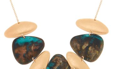 Go to Product: Gold Patina Pebble Statement Necklace