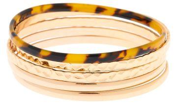 Go to Product: Gold Resin Tortoiseshell Bangle Bracelets - 5 Pack