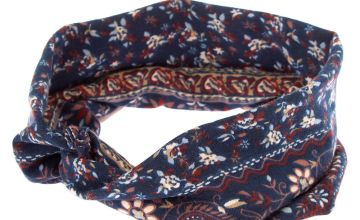 Go to Product: Boho Print Headwrap - Navy